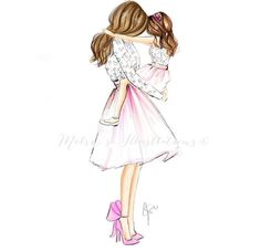 mom art As girls best friend is her mother love you mom! Mother Daughter Art, Mother Art, Mother And Child, Being A Mother, Daughter Quotes, Arte Fashion, Ideias Fashion, Girly Drawings, Mothers Love