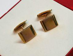 Vintage Manschettenknöpfe - Manschettenknöpfe Cufflinks Gold 585 elegant GM101 - ein Designerstück von Atelier-Regina bei DaWanda