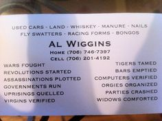 The card from this all-round American hero.