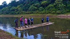Sail through some of the rich forests in Periyar Tiger Reserve on a raft made of bamboo. As you drift past deep woods, watch the forest come alive with bird life, giant squirrels and Nilgiri langur. Bamboo rafting is an ideal combination of adventure with moderate activity.