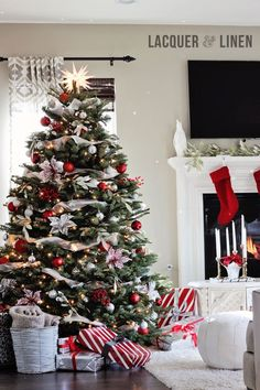 Rojo, verde y plata para la Navidad