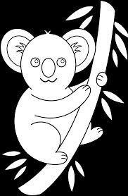Koala Clip Art Coloring Pages