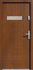 Drzwi zewnętrzne nowoczesne model 473,12 w kolorze orzech