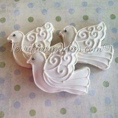 TerrificCupcakes.com:  beautiful dove cookies