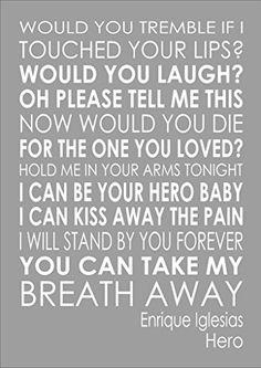 I am selling the lyrics to - Hero - Enrique Iglesias - Va... https://www.amazon.co.uk/dp/B00MSKLWDE/ref=cm_sw_r_pi_dp_x_knwVybTJGBGJ0