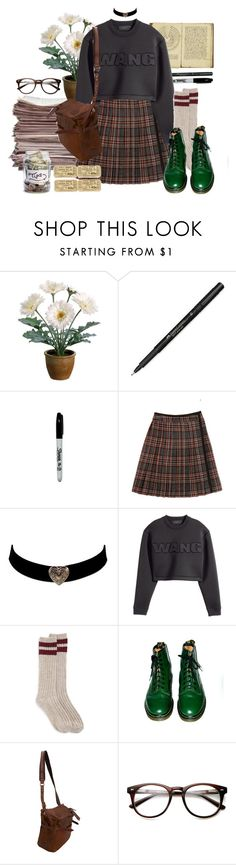 """""""Без названия #137"""" by red-moon-98 ❤ liked on Polyvore featuring мода, Gerber, Faber-Castell, American Apparel, Steven Alan, H&M, Dr. Martens и Jas M.B."""