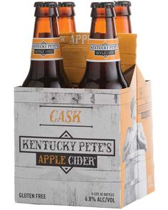 Kentucky Pete's Cask Apple Cider: Pete's award-winning original cider is pumped into just-emptied bourbon barrels and aged just long enough to impart the bourbon flavor and complexity of the oak. Rich vanilla tones are picked up in the nose and oak tannins play on the tongue. A beautiful blend of fresh fruit and oak! – Distiller's Notes