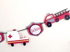 Emergency Vehicle Banner firetruck ambulance by KhoshtinatDesigns