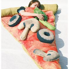 Pizza Sleeping Bag. Fun!