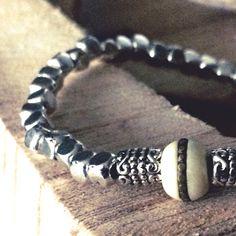 Silver bracelet, handmade Pure Products, Bracelets, Silver, Handmade, Jewelry, Fashion, Moda, Hand Made, Jewlery