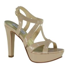 Queenie Nude Patent Platform 4 inch Heel Sandal by Touch Ups from SHOP.COM MarketPlace - Queenie is a great nude patent 4 inch platform sandal that is perfect for a High Heels For Prom, Prom Heels, Black High Heels, Pageant Shoes, Dyeable Shoes, Nude Sandals, Nude Shoes, Heeled Sandals, Shoes Sandals