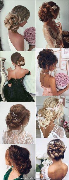 Ulyana Aster Long Wedding Hairstyles & Updos / http://www.deerpearlflowers.com/romantic-bridal-wedding-hairstyles/
