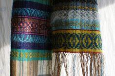 https://flic.kr/p/D1w6rh | snowy wood | handwoven scarf, with mixed yarns, linen, hemp, silk, cashmere, mohair, merino, cotton