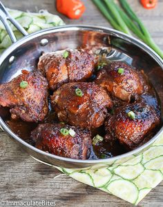 Slow Cooker Jerk Chicken- Easy, tender, incredibly delicious smothered in sauce. A Caribbean vacation in a crockpot!