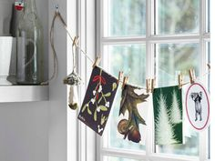 hang/display christmas cards!  Maybe I'll do this in my finished laundry room this year