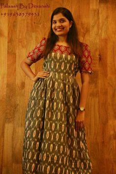 Chudidhar Designs, Blouse Designs, Long Kurtas, Ikkat Dresses, Cotton Gowns, Anarkali Kurti, Kurta Neck Design, Frocks For Girls, Ethnic Outfits