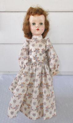 40s 50s Vintage Arranbee R & B Nanette Doll Hard Plastic 17 Inch
