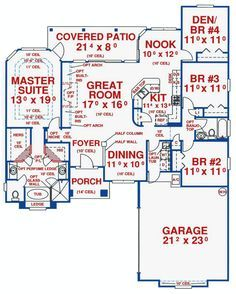 Split Bedrooms with Den Option - 24712ME   Florida, Southern, Photo Gallery, 1st Floor Master Suite, CAD Available, PDF, Split Bedrooms   Architectural Designs