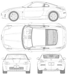 Nissan 350Z blueprint | Auto | Pinterest