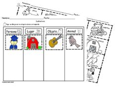 Sustantivos Sorting Worksheet SLA Common core/Cscope