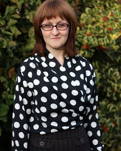 SOIshowoff October: English Girl at Home in her spotty Anderson Blouse