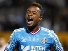Jordan Ayew, Ghanaian footballer who plays as a striker for Marseille and Ghanaian National Football Team. His father is Abedi Pelé.
