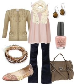 """pink & brown"" by htotheb ❤ liked on Polyvore"