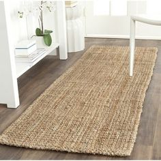 Buy Safavieh Natural Fiber Collection Hand Woven Natural Jute Runner, 2 feet 6 inches by 10 feet x Area Rugs – ✓ FREE DELIVERY possible on eligible purchase… Natural Jute Rug, Sisal Runner, Braided Area Rugs, Safavieh, Rugs, Natural Fiber Rugs, Area Rugs, Jute, Natural Rug