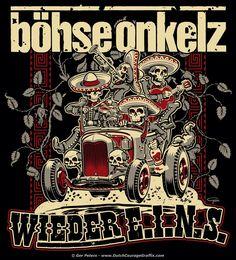 "T-shirt artwork ""Wieder E.I.N.S."" for Böhse Onkelz #punk #rock #band #tshirt #artwork #onkelz"