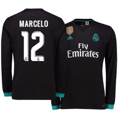 Real Madrid Jersey 17-18 marcelo LS Away Shirt