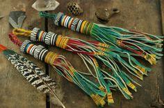Ombre bunten afrikanischen Tuareg Ziege Leder von WomanShopsWorld