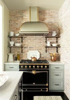 Embrace Black Appliances: Plain old stainless steel has its merits, but in a small kitchen, a giant swath of silvery metal can quickly dominate the room.