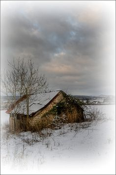 Derelict and very very cold. Caldicot, Wales