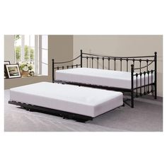 Cranmore Daybed with Trundle Pop Up Trundle, Daybed With Trundle, Day Bed Frame, Daybed Room, Trundle Mattress, Bed Risers, Buy Bed, Guest Bed, Traditional Furniture