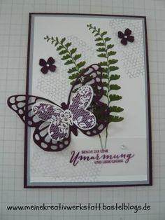 Stampin up, Schmetterlingsgruß, Geburtstagskarte