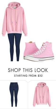 """Untitled #295"" by thenerdyfairy on Polyvore featuring Converse"