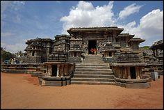 Halebid temple front