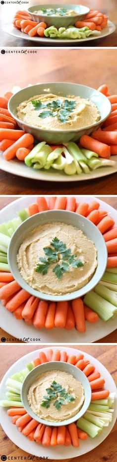 "This SIMPLE HOMEMADE HUMMUS is easy to make and less expensive than traditional hummus recipes that have tahini in them. The cayenne gives it a little extra ""kick"". It's great as a dip, in a wrap, or spread over pitas."