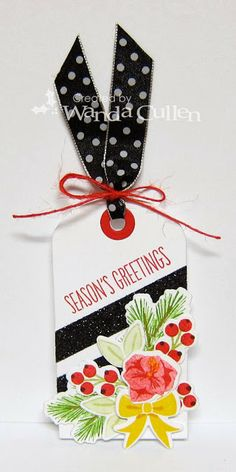 Cute tag - floral arrangement with wPlus9 Merry and Bright, Fresh Cut Florals and Woodland Wreaths