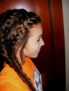 french braids and a fishtail!! I gotta try it!! That's soo pretty!!!