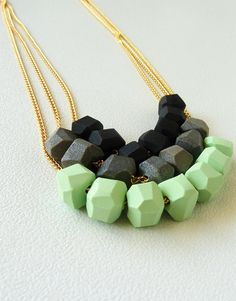 love these necklaces; maybe using the fimo bead tutorial that i pinned at some point?