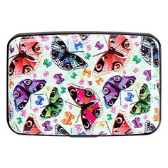 Aluminum RFID Blocking Wallet Identity Protection Travel Credit Card Case Butterfly - Brought to you by Avarsha.com