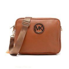 Michael Kors Jet Set Signature Leather Crossbody Bags in Tan