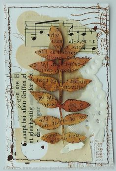 Anina papirčkalnica: Welcome Autumn mixed media Mixed Media Cards, Mixed Media Collage, Photo Halloween, Halloween Cards, Paper Art, Paper Crafts, Art Carte, Art Trading Cards, Art Journal Pages