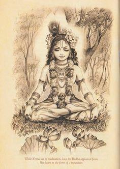 Krishna is the main god I study Hare Krishna, Krishna Leela, Jai Shree Krishna, Radha Krishna Love, Krishna Tattoo, Krishna Drawing, Krishna Painting, Lord Krishna Images, Radha Krishna Pictures
