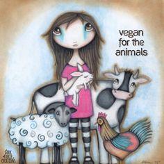 """""""Vegan kvůli zvířatům"""" Autorka: Elise Hollandsworth Hartmann (Dark Faerie Creations)"""
