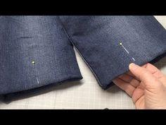 Jeanshose abstecken und kürzen wie ein Profi - YouTube