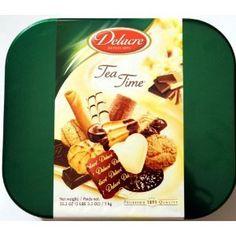 Delacre Tea Time Exquisite European Biscuit Assortment Tin Box Net Weight 35.3 OZ (1 kg) - http://www.yourgourmetgifts.com/delacre-tea-time-exquisite-european-biscuit-assortment-tin-box-net-weight-35-3-oz-1-kg/