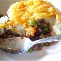 """Shepherd's Pie  """"This Shepherd's Pie is a layered casserole of beef, carrots, and potato."""""""