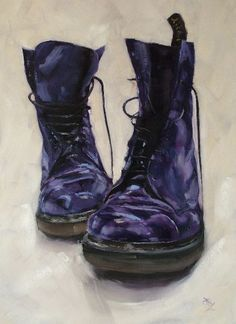 Purple DMs 3, oil on canvas  (SOLD)